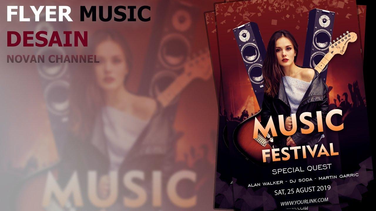 Cara Membuat Desain Poster/Flyer Musik Di Photoshop - YouTube