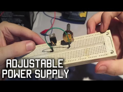 Make a simple adjustable power supply LM317