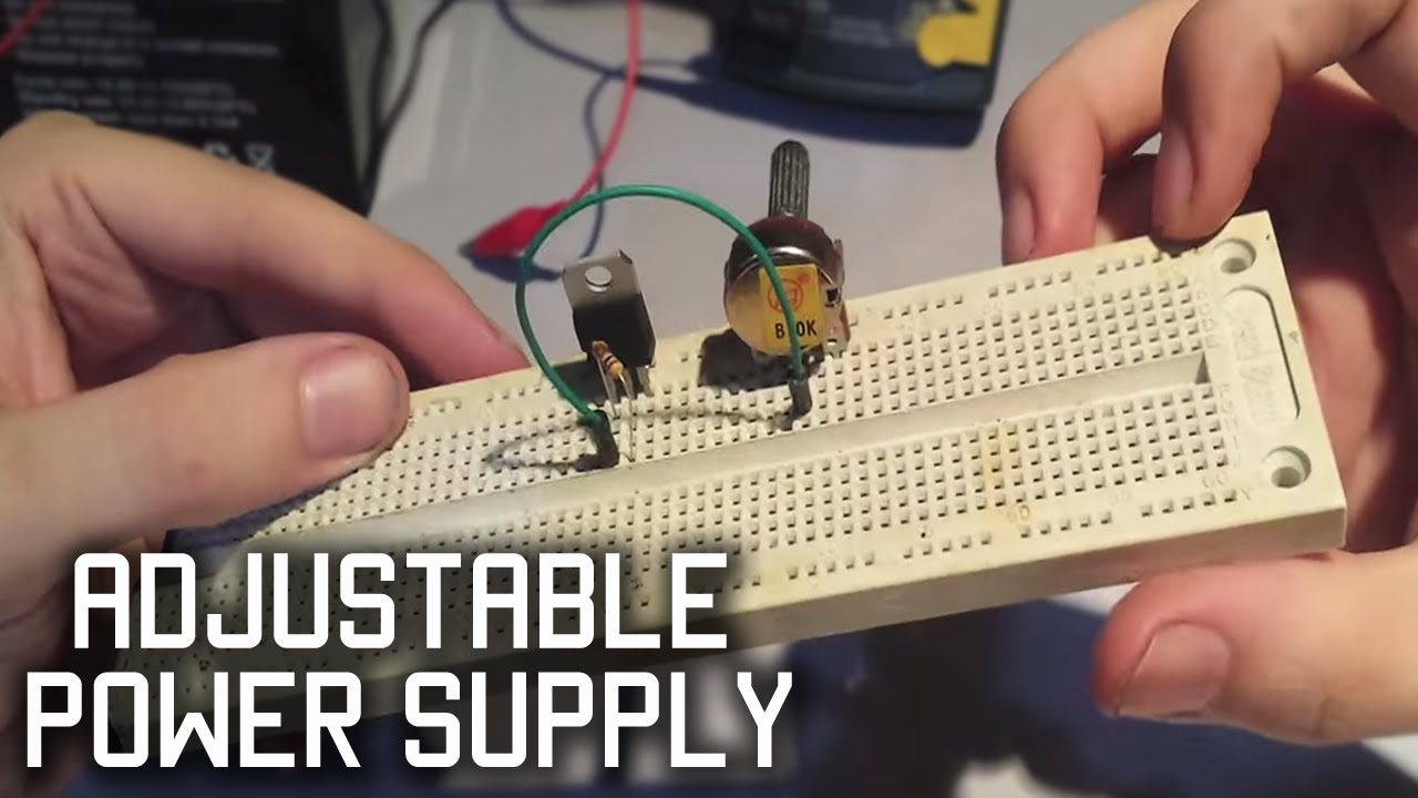 Make A Simple Adjustable Power Supply Lm317 Youtube 12v Linear Regulator For Transceiver Radio