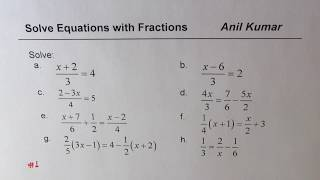 Strategies to Solve MuĮti Step Linear Equations with Fractions