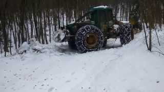 SKIDDER TIMBERJACK 450C Snow Plowing HD