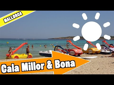 Cala Millor and Cala Bona Mallorca Spain: Tour of beach and resort