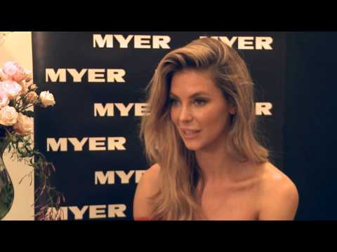 Jennifer Hawkins fitness runway regime for Myer
