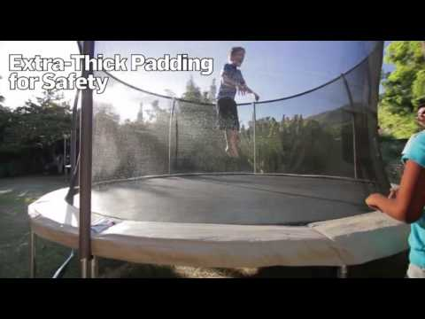 Bouncepro 14 Trampoline And Enclosure With Spinner Flash Lites