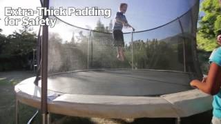 Bouncepro 14' Trampoline And Enclosure With Spinner Flash Lites