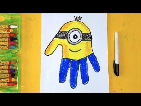 Как нарисовать Миньона - Ручки папы - рисуем просто