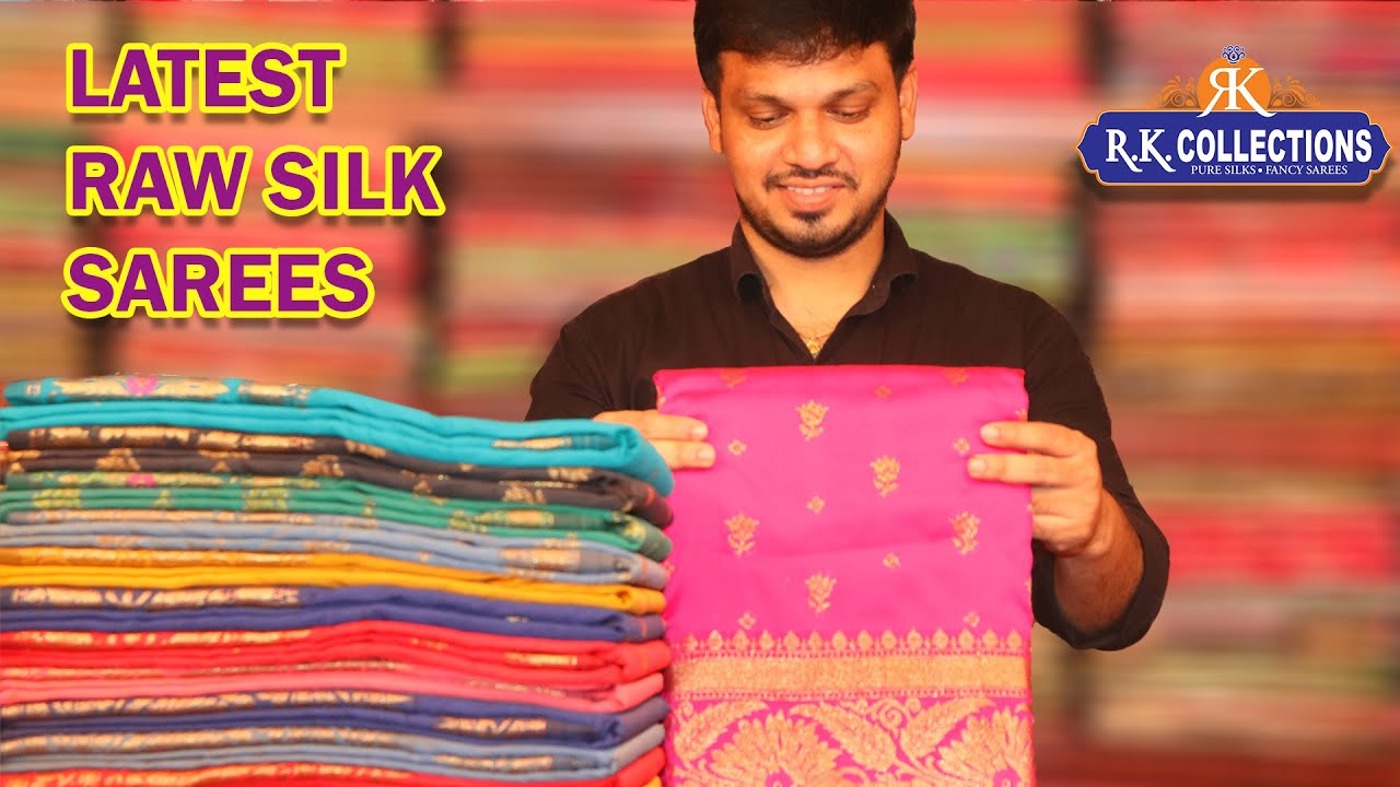 Latest Raw Silk Sarees Collection I Rkcollections I