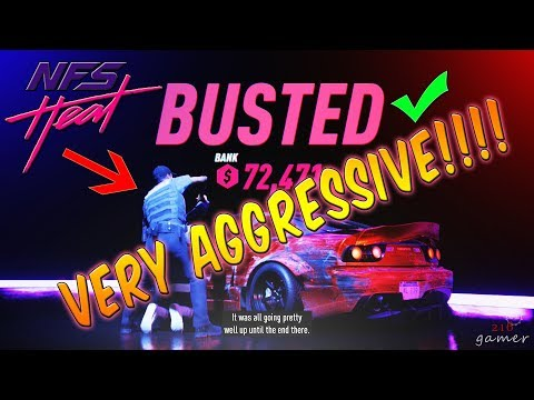 Need For Speed Heat Level 5 Police Chase Very Aggressive!!!!