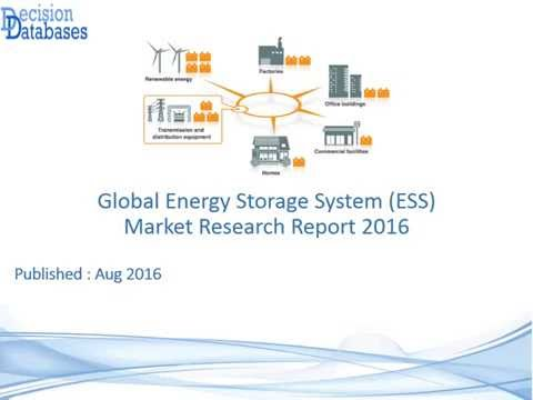 Global Energy Storage System (ESS) Market Research Report 2016