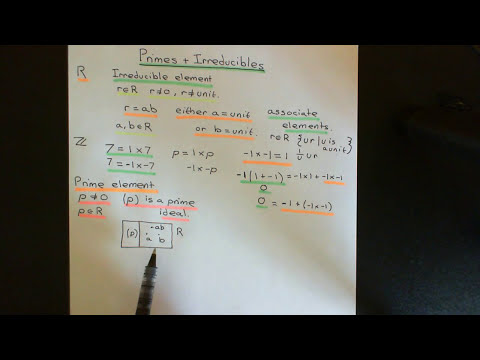 Primes and Irreducibles Part 1