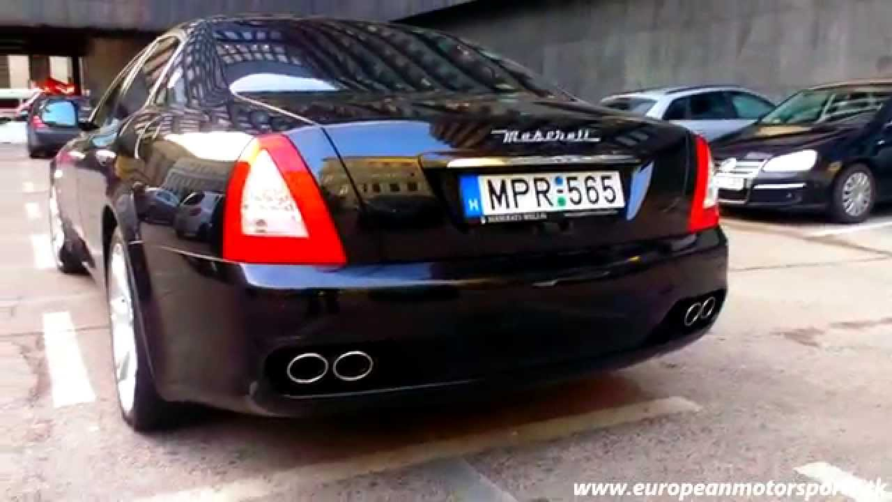 2009 maserati quattroporte revs, acceleration, exhaust, startup