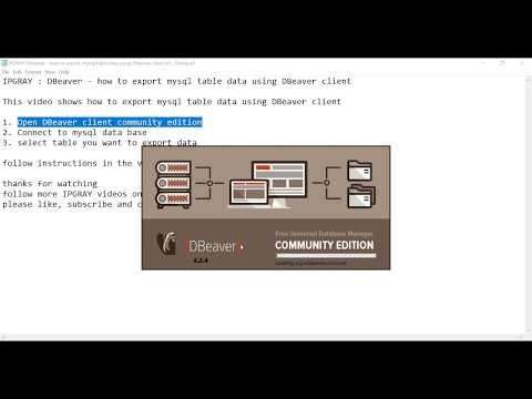 IPGRAY : DBeaver - how to export mysql table data using