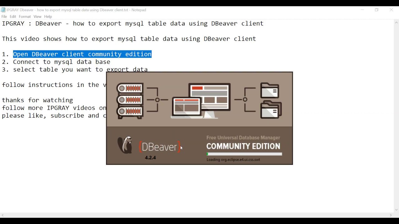 IPGRAY : DBeaver - how to export mysql table data using DBeaver client