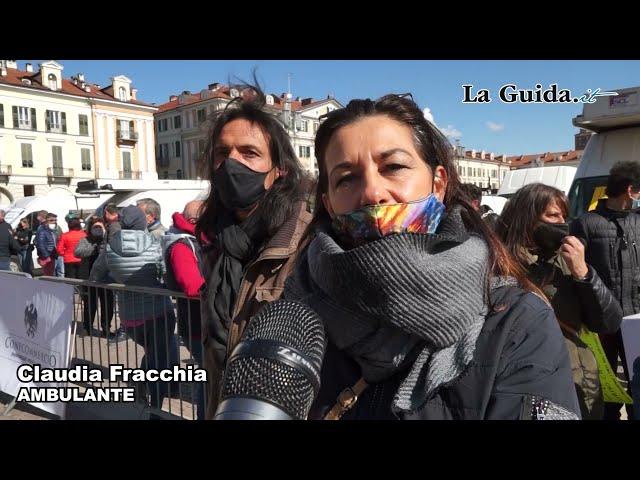 Protesta ambulanti al mercato di Cuneo