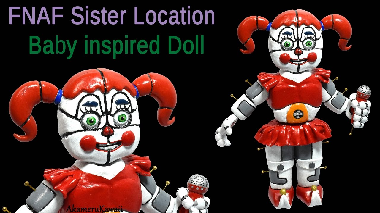 Circus Baby Doll Fnaf Sister Location Inspired Polymer