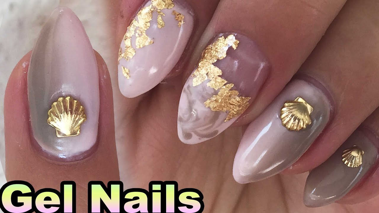 How To Gradient Gel Nails, Pastel Pink and Brown Simple Nail Design ...