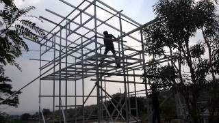 Ph.081321-964040 Cara Membuat Struktur Rumah Baja Ringan