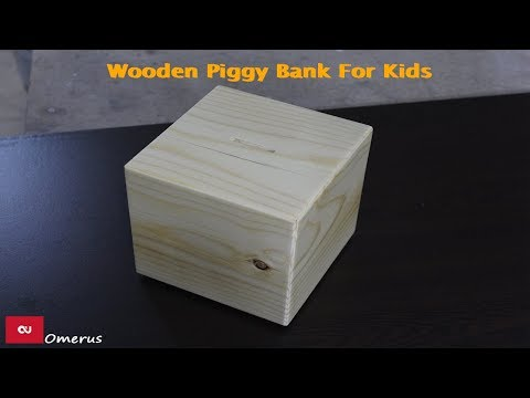 Wooden Piggy Bank For Kids