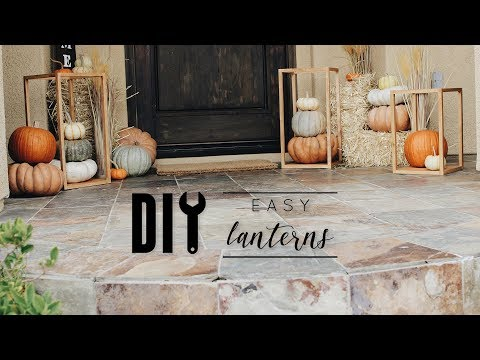 DIY Fall Front Door Decor + Folding Workshop Table Review
