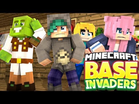 GIANT TOTORO BASE?! - Minecraft Base Invaders Challenge