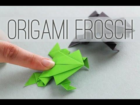 origami frosch falten origami frog anleitung youtube