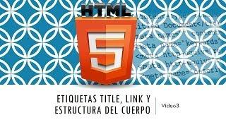 Curso HTML 5. Nuevos elementos de estructura en HTML5. Vídeo 3