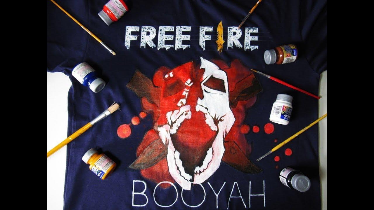 Pintei Minha Camiseta Com O Headshot Do Free Fire By Jsantosart