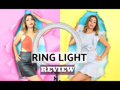 "VIDEO AND PHOTOGRAPHY RING LIGHT FROM AMAZON 16"" AURIANI RING LIGHT LIVE REVIEW 