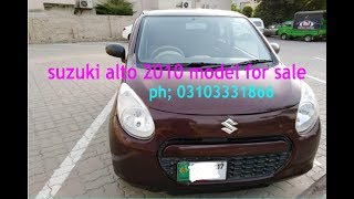 Suzuki Alto X 2010 use car best car for you