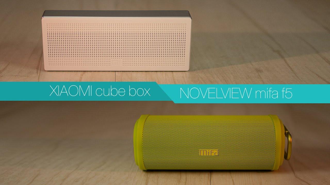 Xiaomi Cubebox Vs Novelview Mifa F5 Bluetooth Speaker Youtube M1 Cube