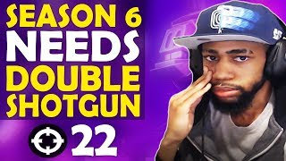 WHY SEASON 6 NEEDS DOUBLE SHOTGUN | 22 KILL, FUNNY SOLO GAME - (Fortnite Battle Royale)