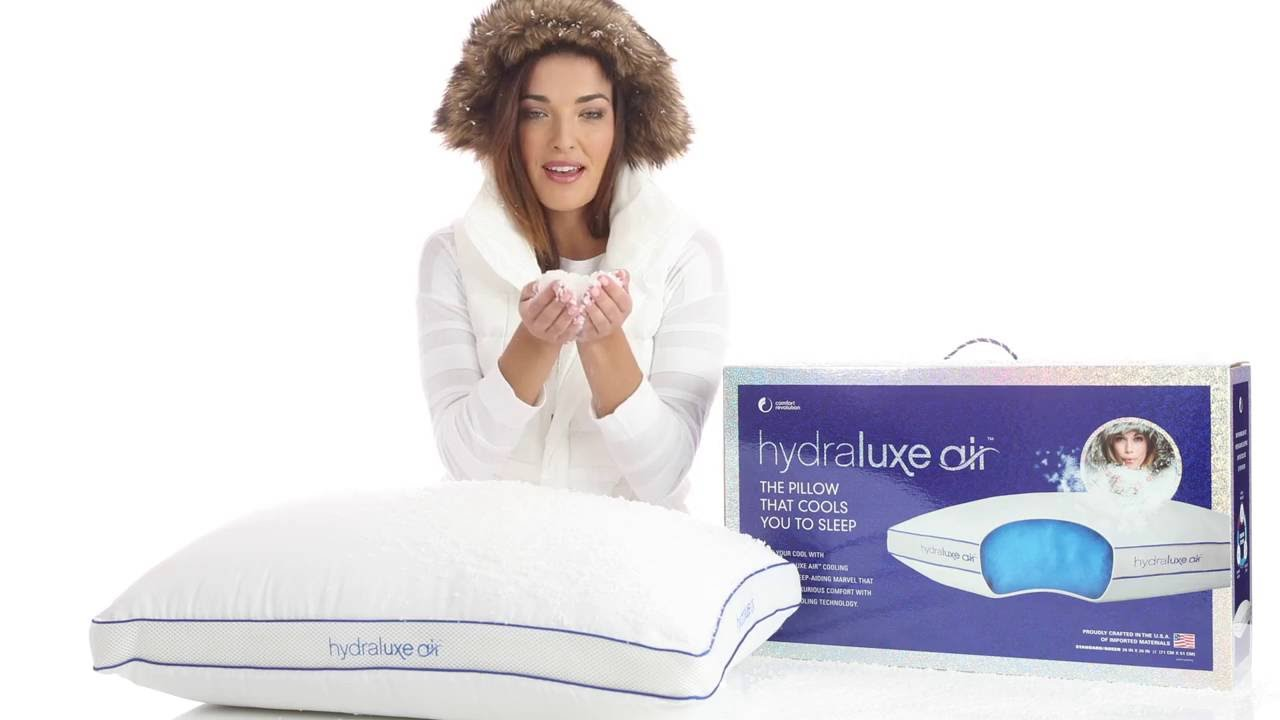 Comfort Revolution Hydraluxe Air Pillow - YouTube