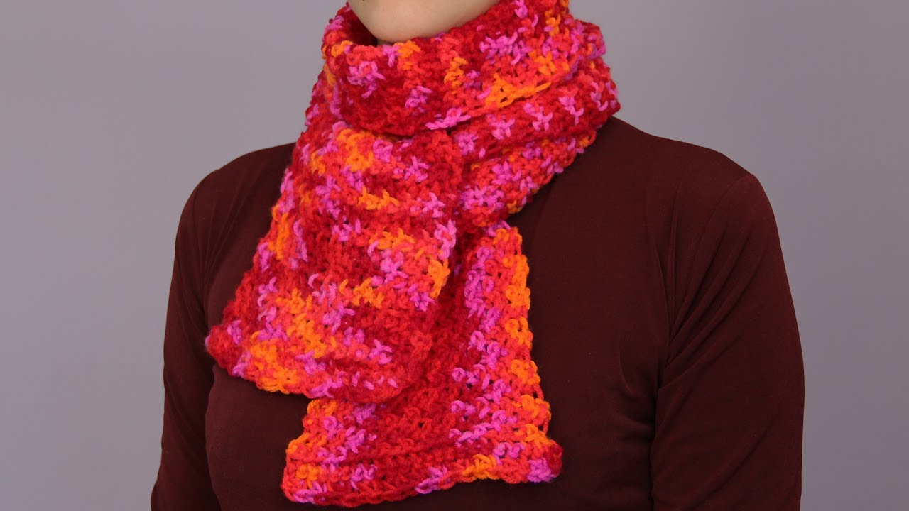 How To Crochet A Scarf Fast And Easy Way Youtube