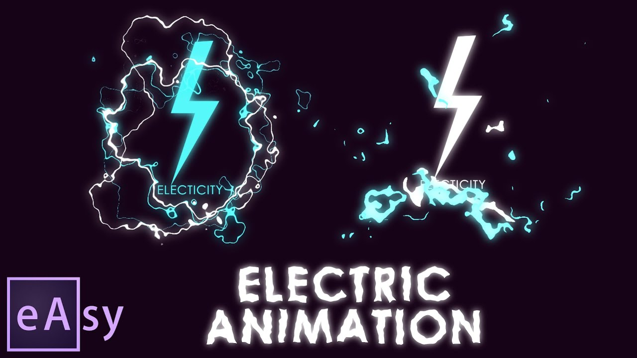 Line Art Animation After Effects : Electric animation easy after effects tutorial you