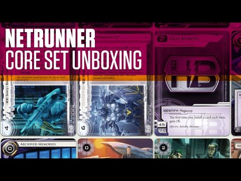 Android Netrunner Unboxing Core Set