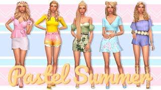 PASTELL-SOMMER-LOOKBOOK   | Sims 4 erstelle Einen Sim + FULL CC-LISTE