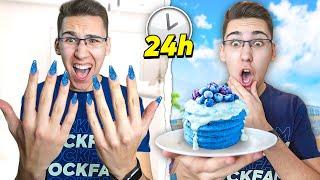 24 SATA ŽIVIM U PLAVOJ BOJI!! *plavi nokti*