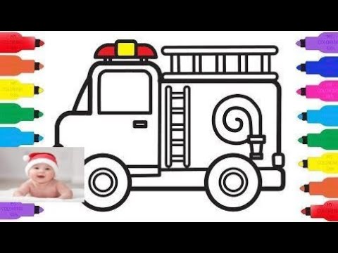 how to draw fire truck for kids k construction truck coloring pages and drawing for k part 74
