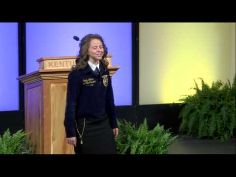 Charity Adams   Session Intro   86th Kentucky FFA State Convention