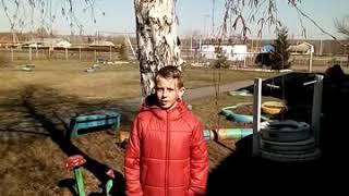 Ученик 2 класса Фёдор Лысов читает стихотворение С.Маршака Снег теперь уже не тот.