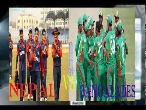 nepal vs bangalades u19 cricket world cup 2016 live