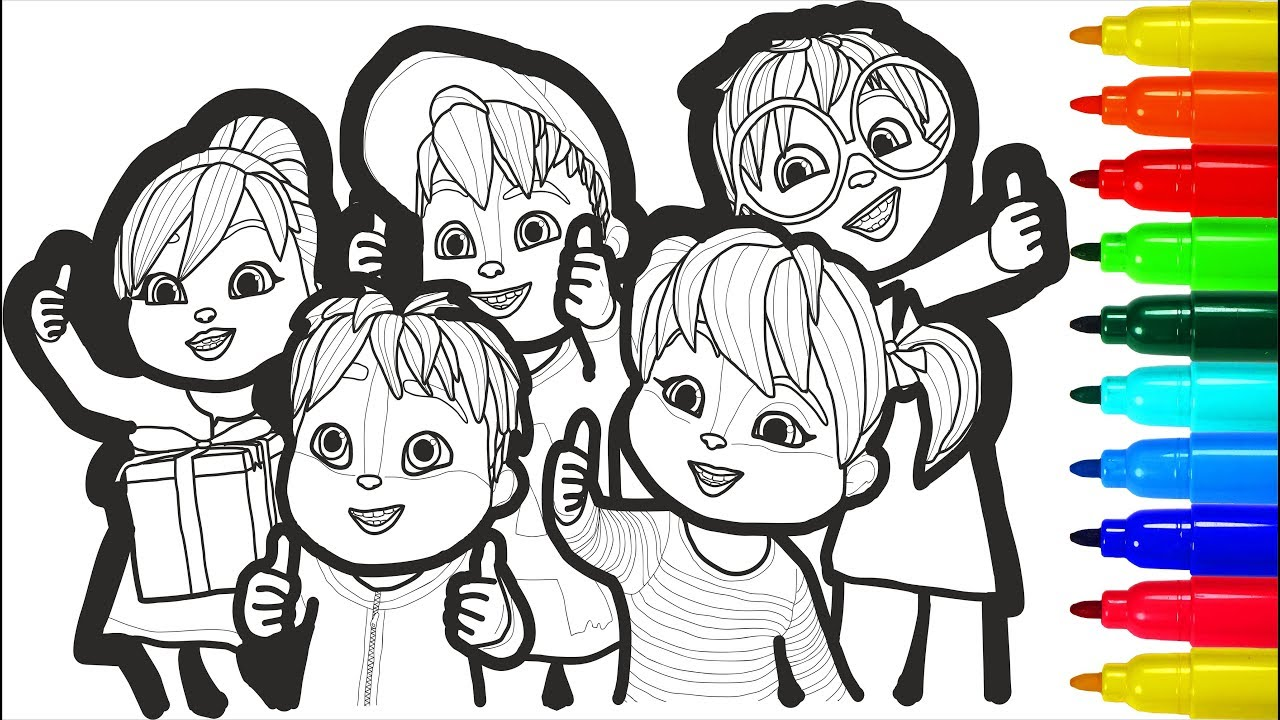 - ALVINNN AND THE CHIPMUNKS Coloring Pages ALVINNN Colouring Pages