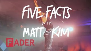 Matt and Kim - 5 FACTS (interview at vitaminwater #uncapped)