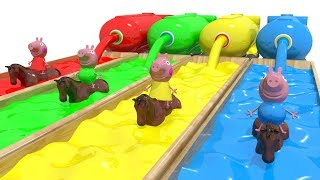 Peppa Pig Learn Colors With Racing Horsey Animals For Kids Old Macdonald Children nursery Rhymes