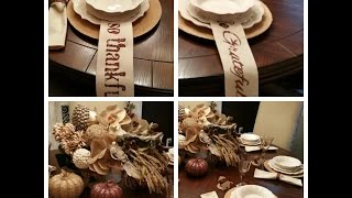 Fall Tablescape Beautiful a  Must See Decor!!!