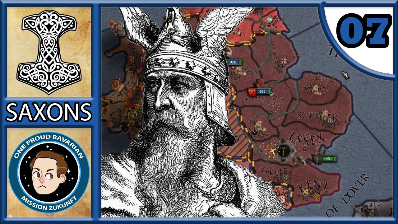 CK2 3 1 Great Works - Saxons Everywhere, Unite! #7 - The North Sea Realm