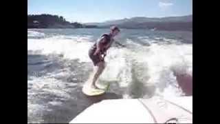Megan Boat Surfing