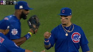 CHC@WSH Gm1: Baez makes smooth over-the-shoulder grab