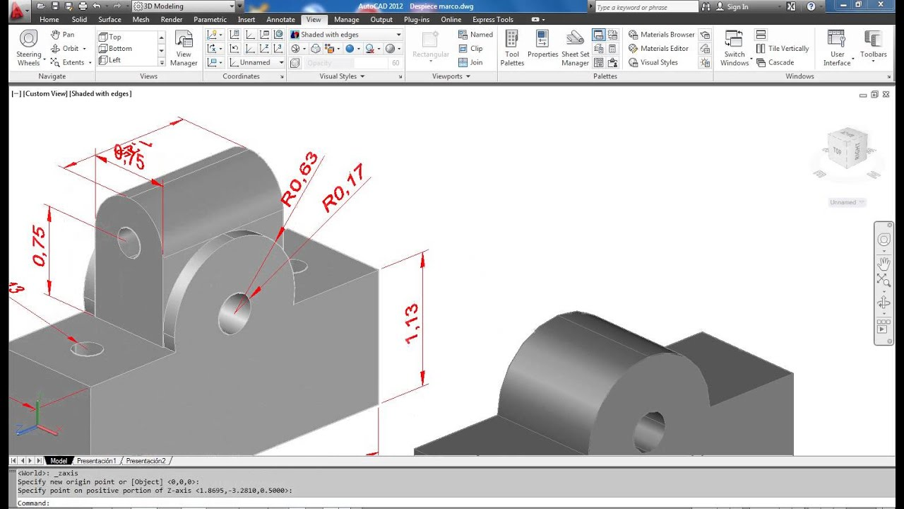 autocad 2013 3d tutorial pdf