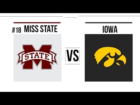 2019 Outback Bowl #18 Mississippi State vs Iowa Full Game Highlights